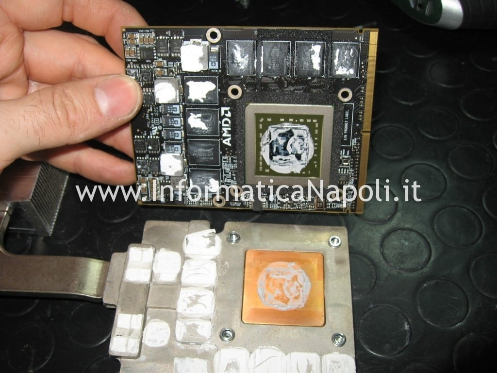 reballing video ati radeon Apple iMac 27 A1312 2010 Unibody