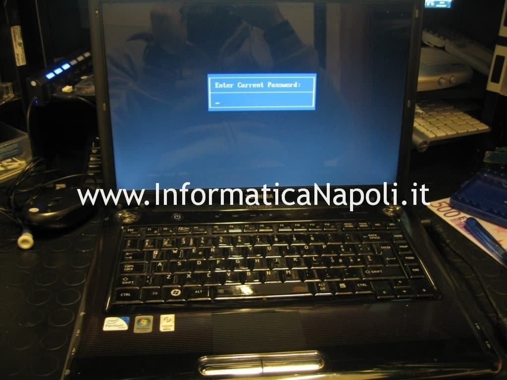 Enter current password Toshiba Satellite A300 PSAGCE