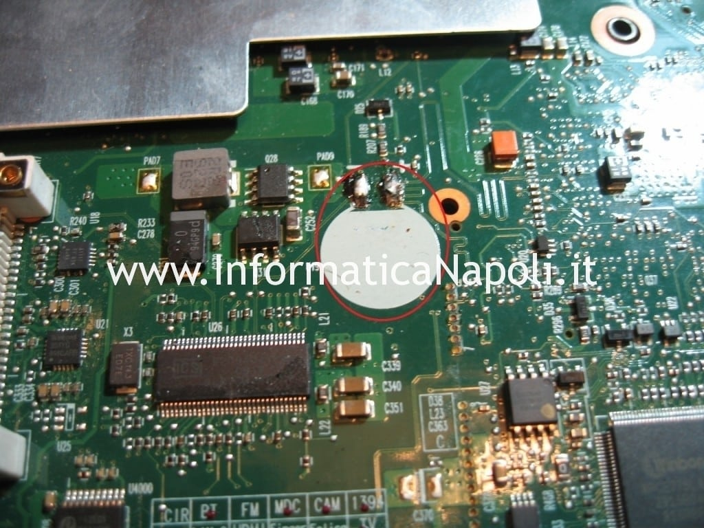reset bios A300 PSAGCE battery batteria CMOS password