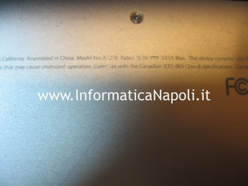 problema Macbook Unibody A1278