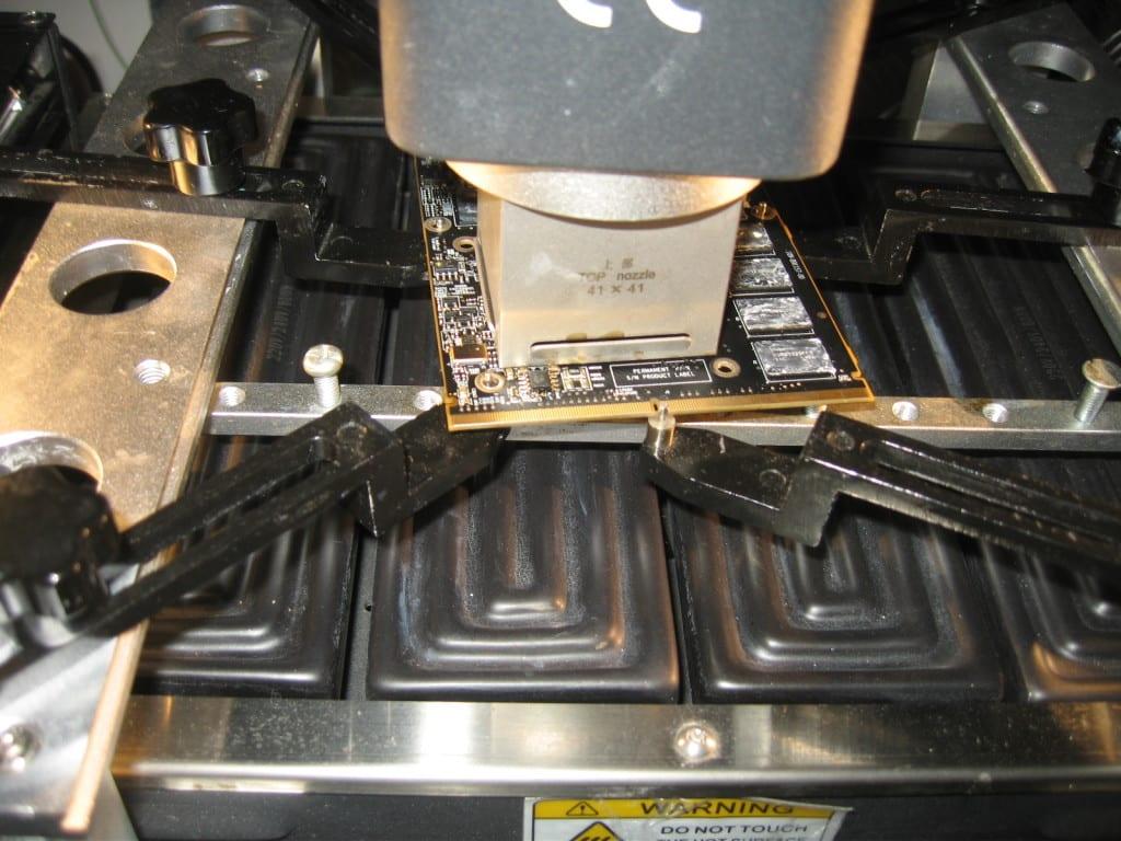 reballing rework imac sostituzione chip BGA ATI A1311 A1312