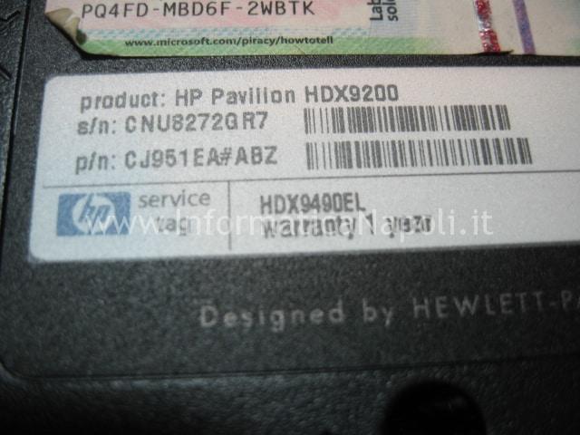 problema HDX9200 HDX9490EL