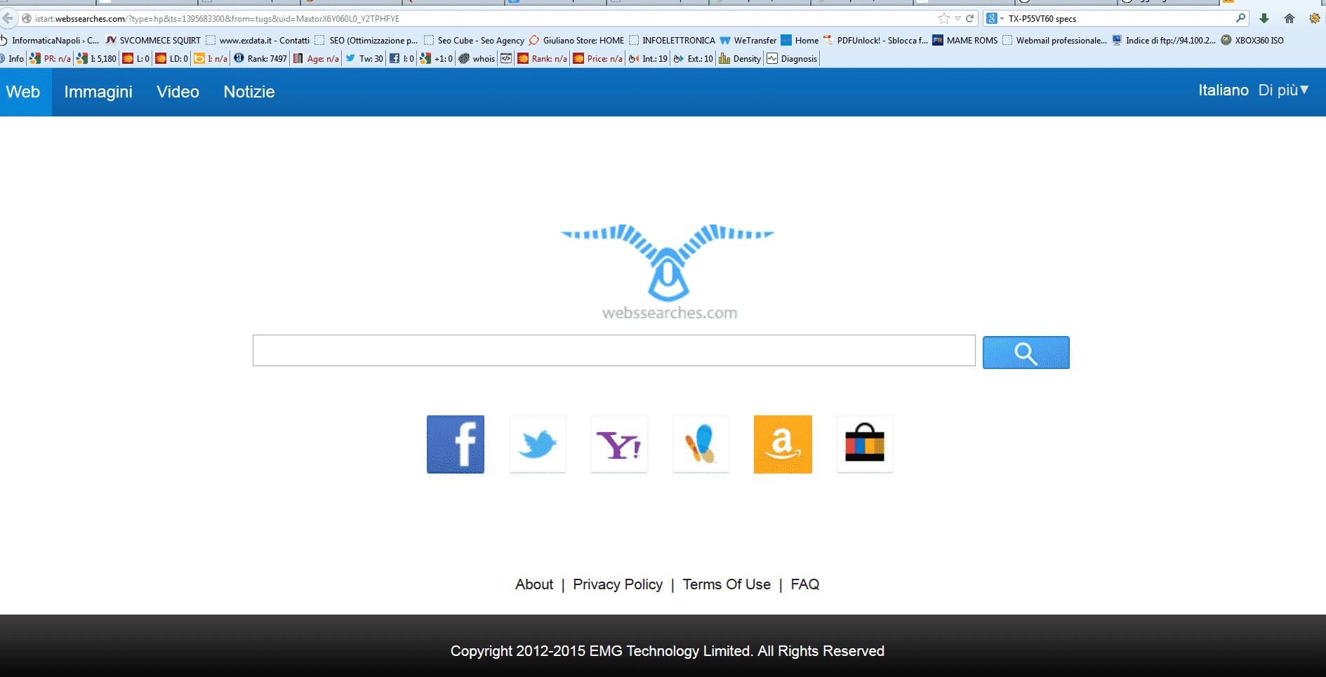 come rimuovere WEBSEARCHER.COM