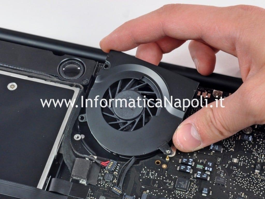 smontare dissipatore ventola apple macbook pro unibody 2009