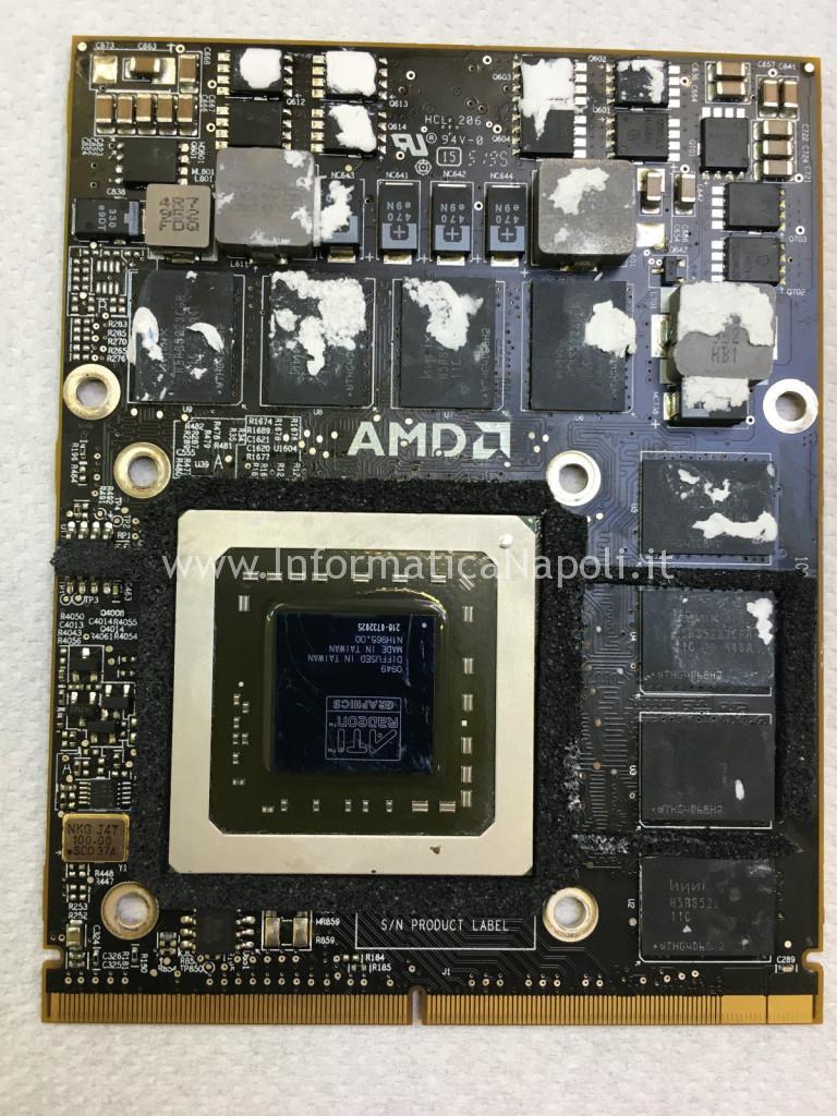 reballing rework AMD Radeon HD 4850 imac