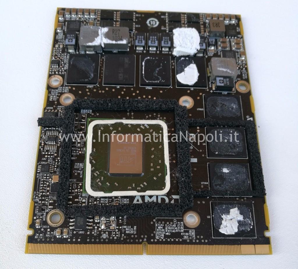 reballing rework AMD Radeon HD 5750 imac