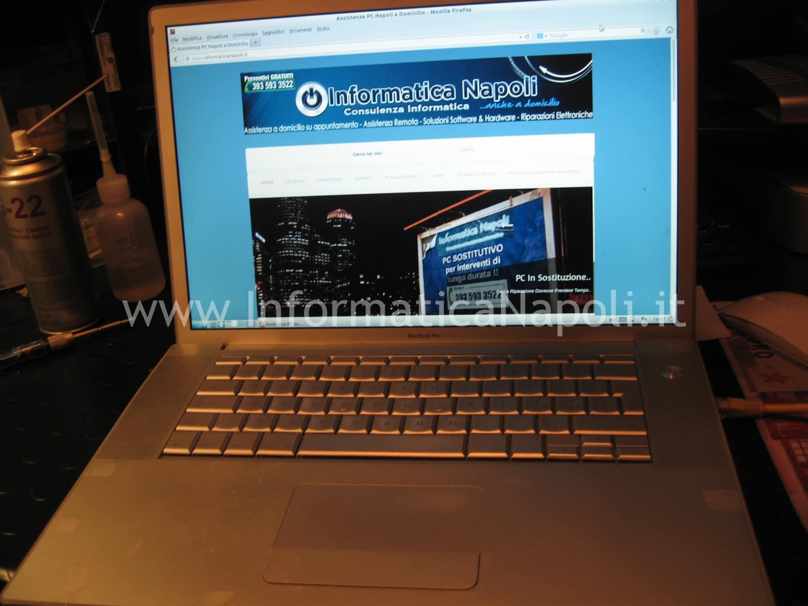 logic board apple macbook pro A1260 riparata