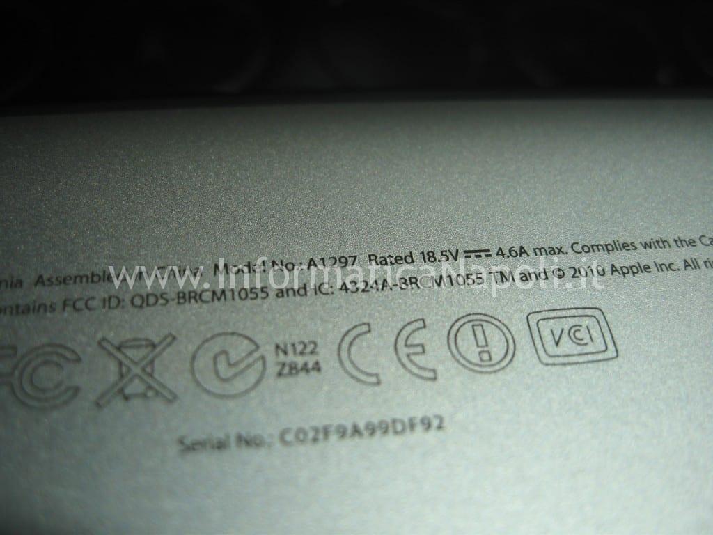 riparare Apple MacBook pro A1297 unibody