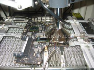 reballing bga AMD Apple MacBook pro 17 A1297 unibody