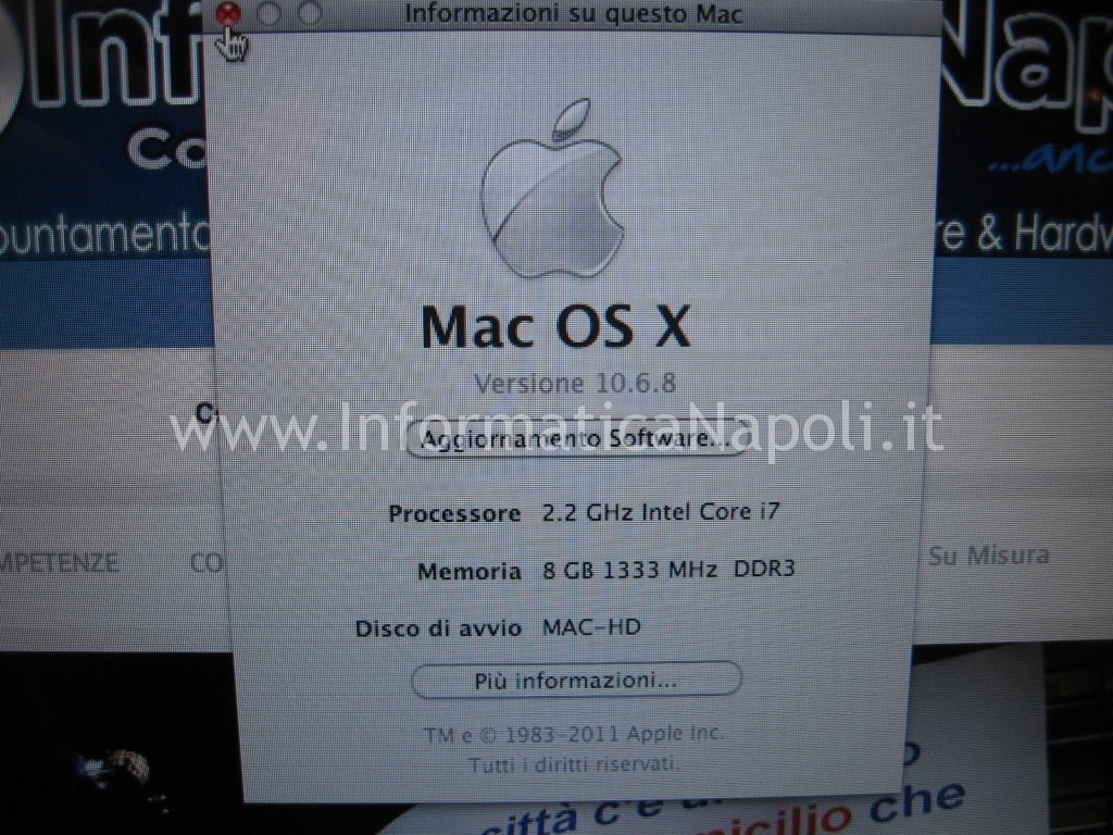 problema scheda nVidia Apple MacBook pro A1297