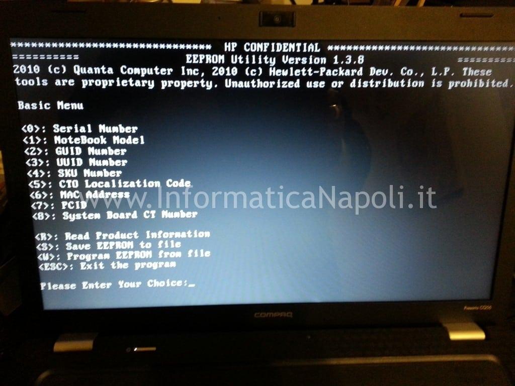 DMIFIT hp compaq system board OOA error