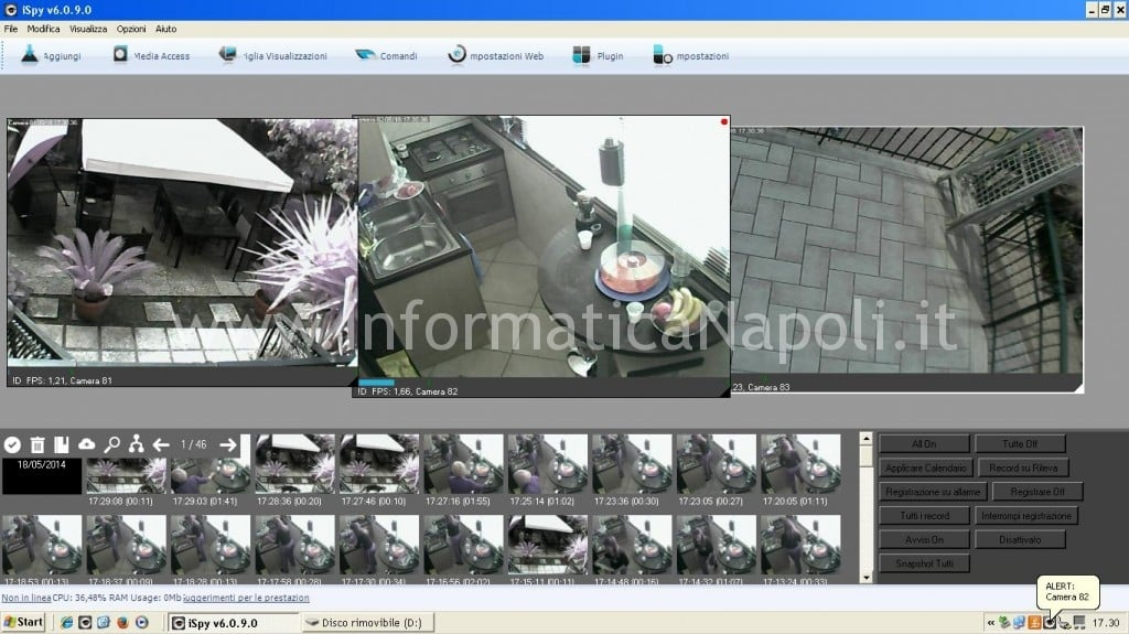 installare DVR IP CAM