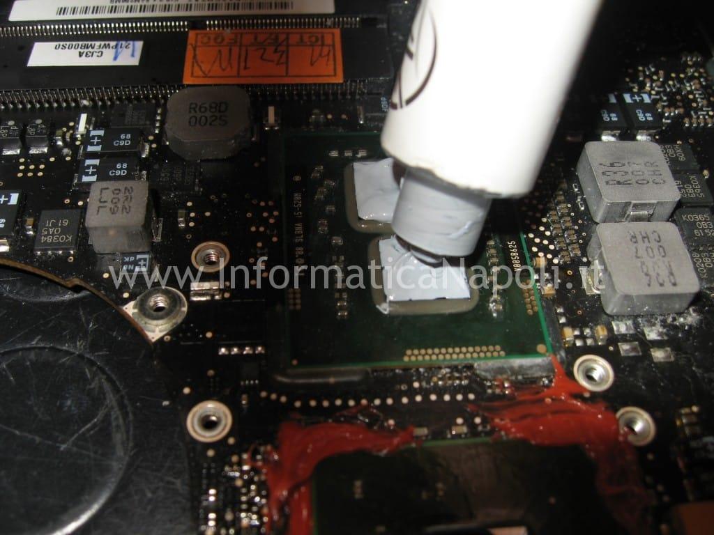 problema scheda grafica GPU macbook pro unibody a1286