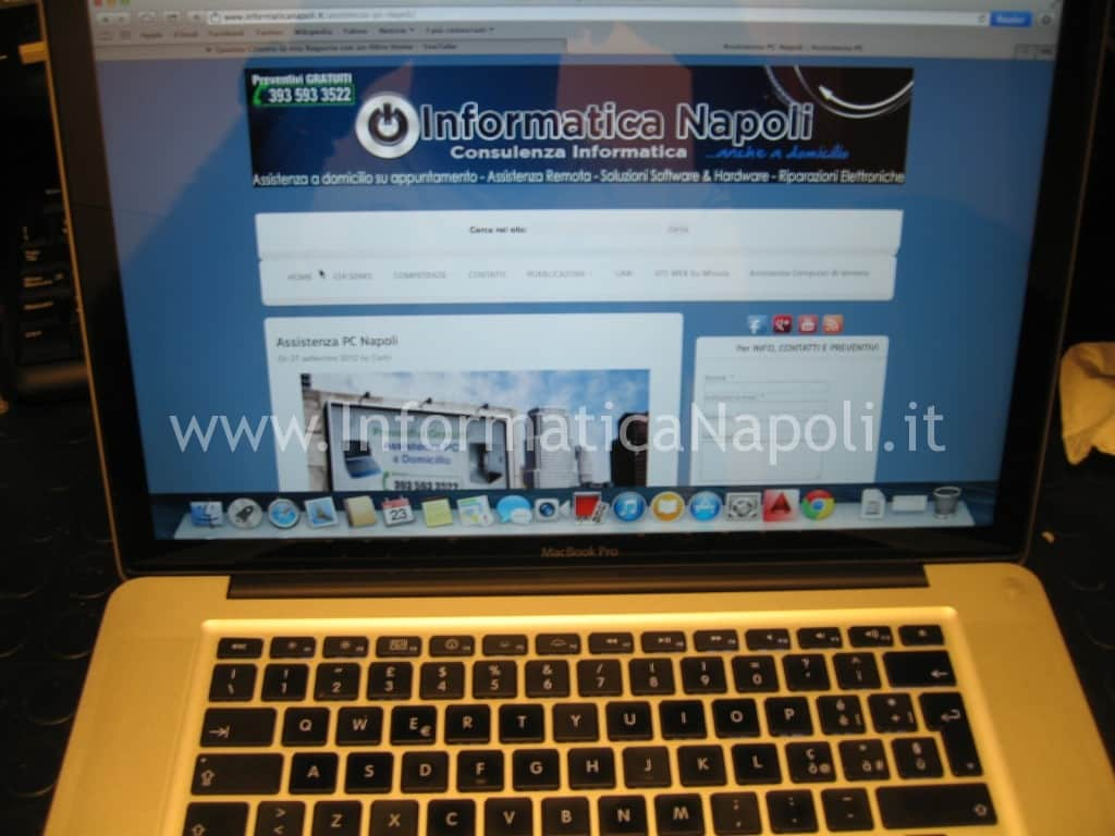 assistenza apple napoli problema video macbook pro unibody risolto