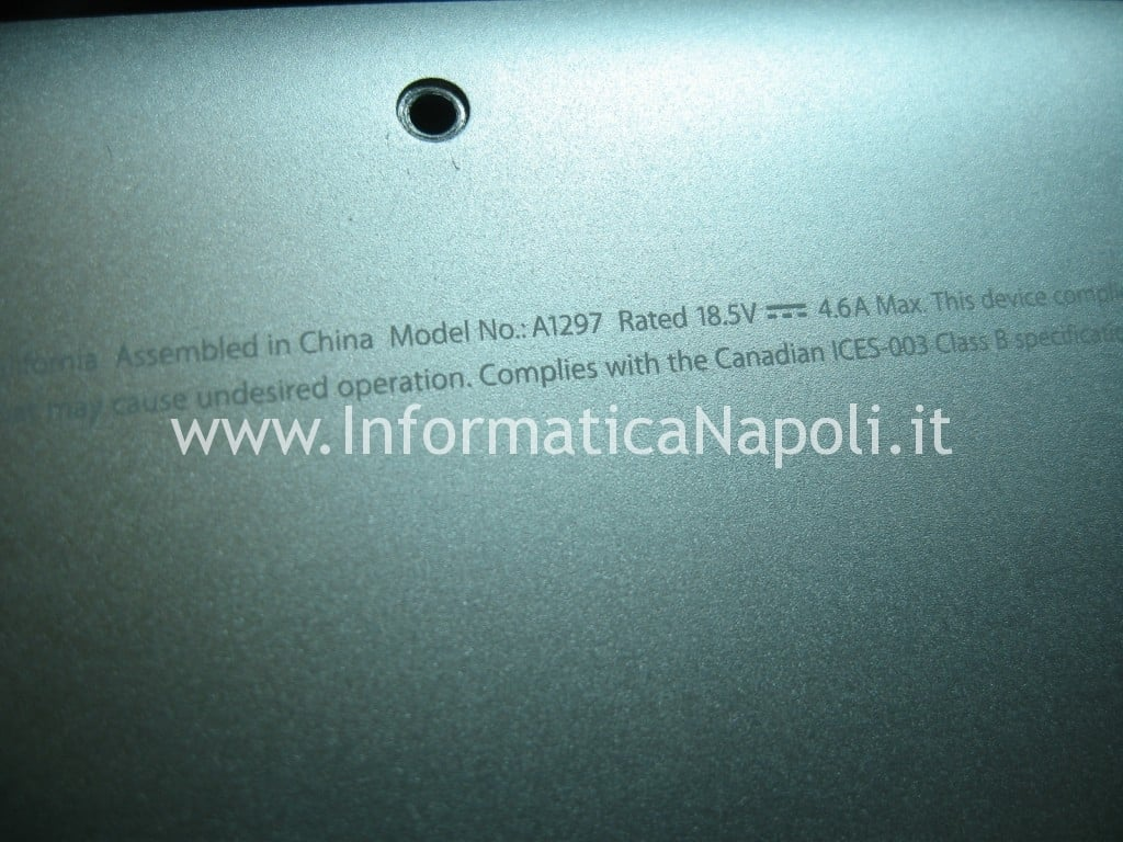 A1297 macbook pro problemi video nVidia