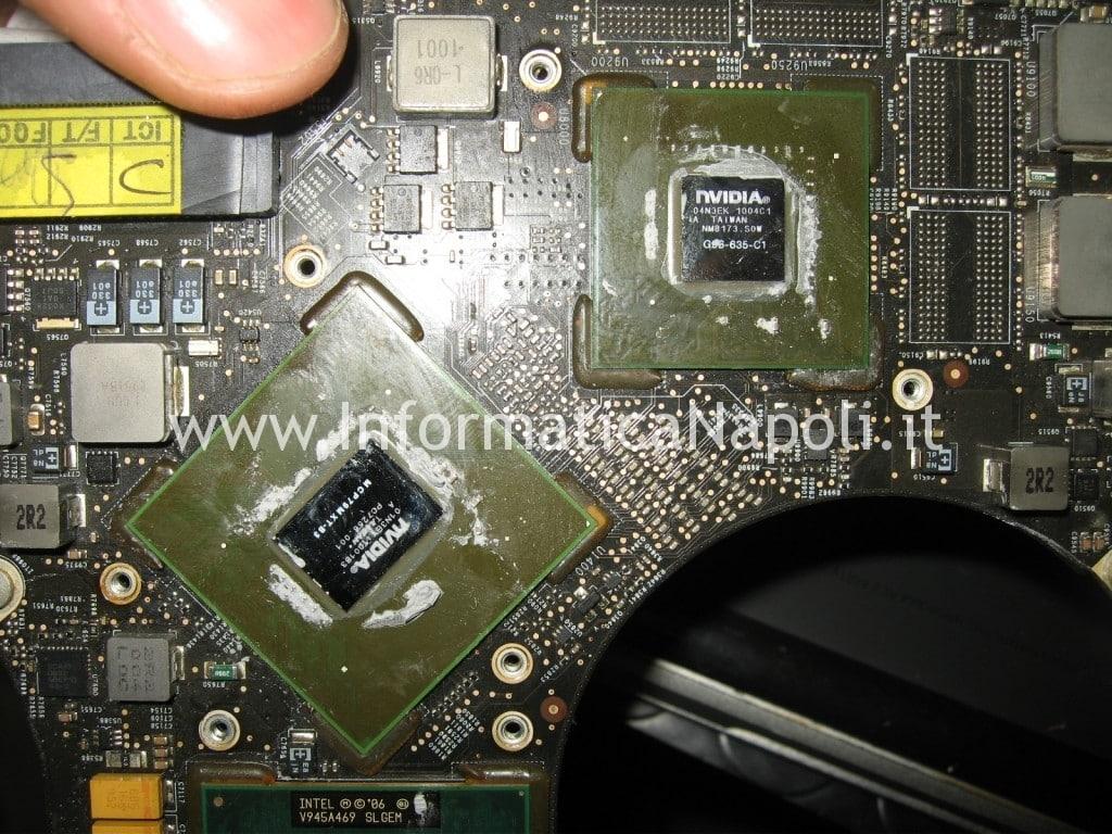 riparazione logic board scheda madre  A1297 macbook pro nvidia