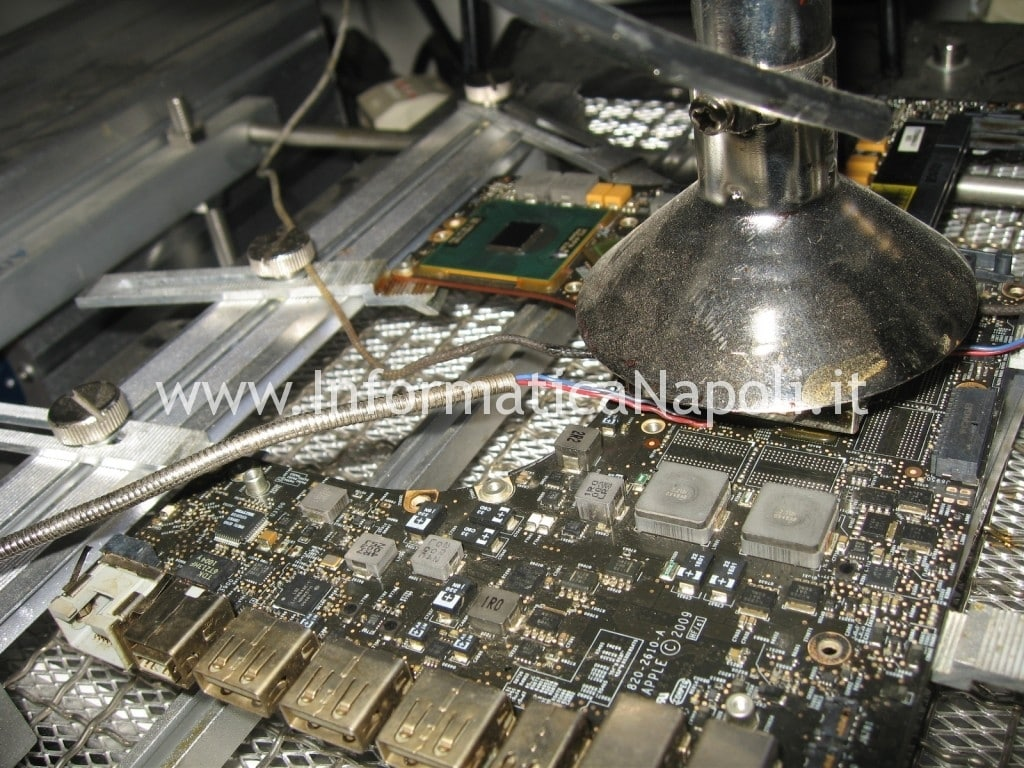 reflow reballing gpu logic board A1297 macbook nvidia