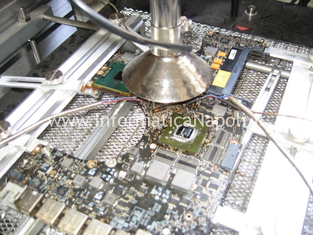reflow reballing southern bridge logic board A1297 macbook nvidia