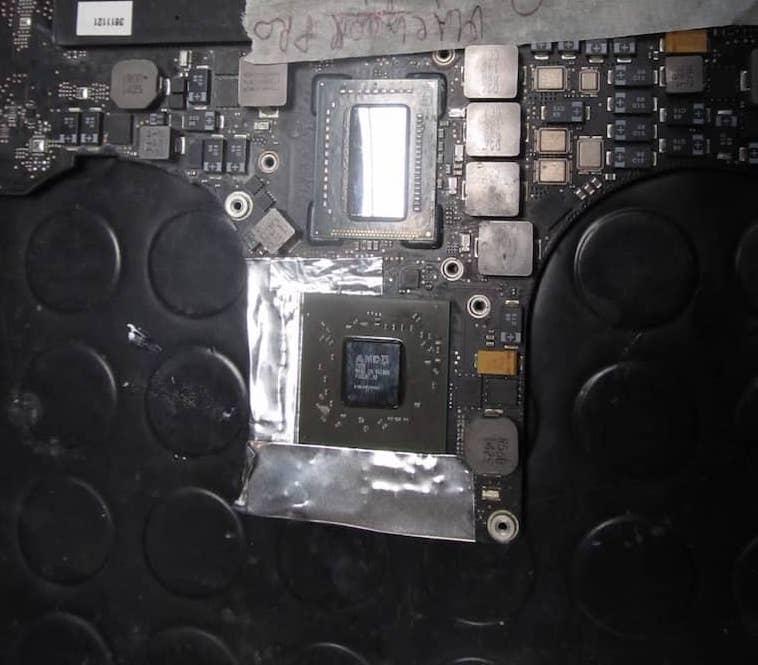 fase preparazione reballing macbook a1286
