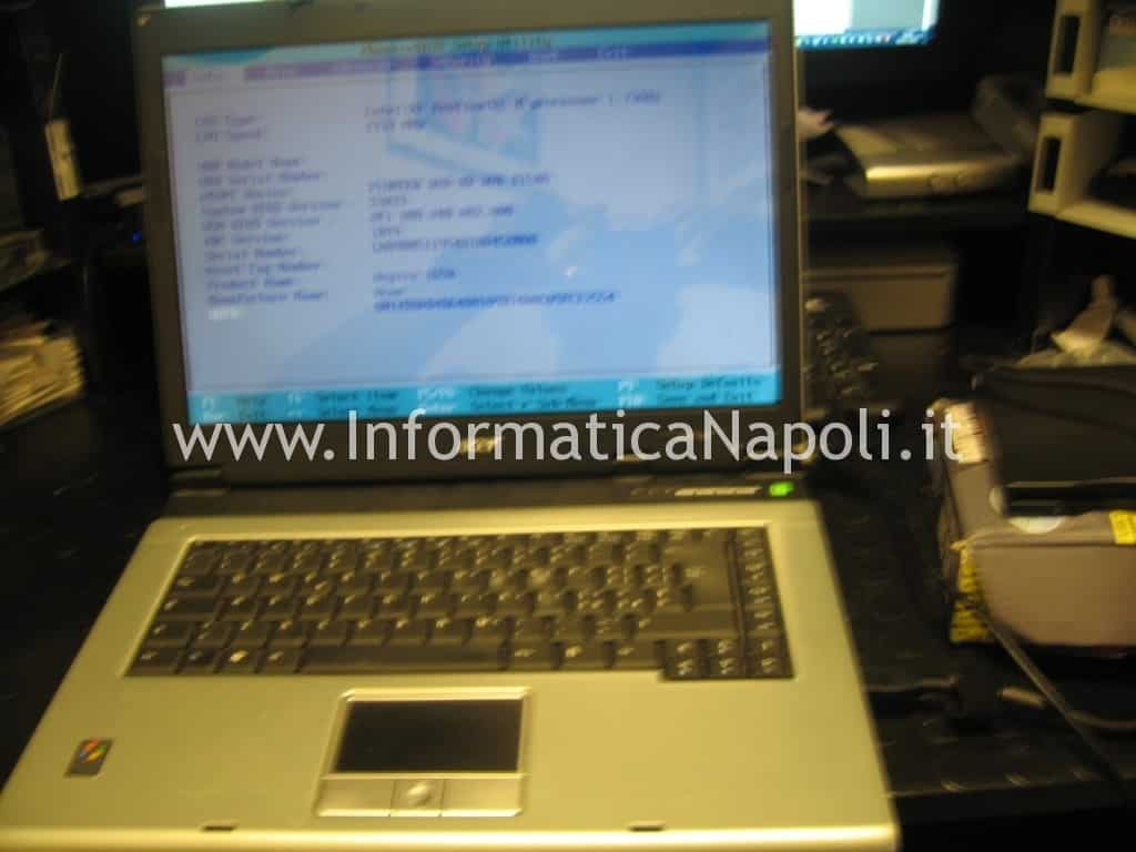 restore bios acer 1650 ripristino floppy