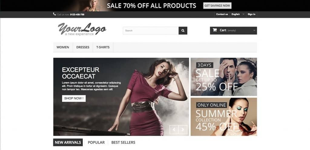 Sviluppo siti web ecommerce Prestashop