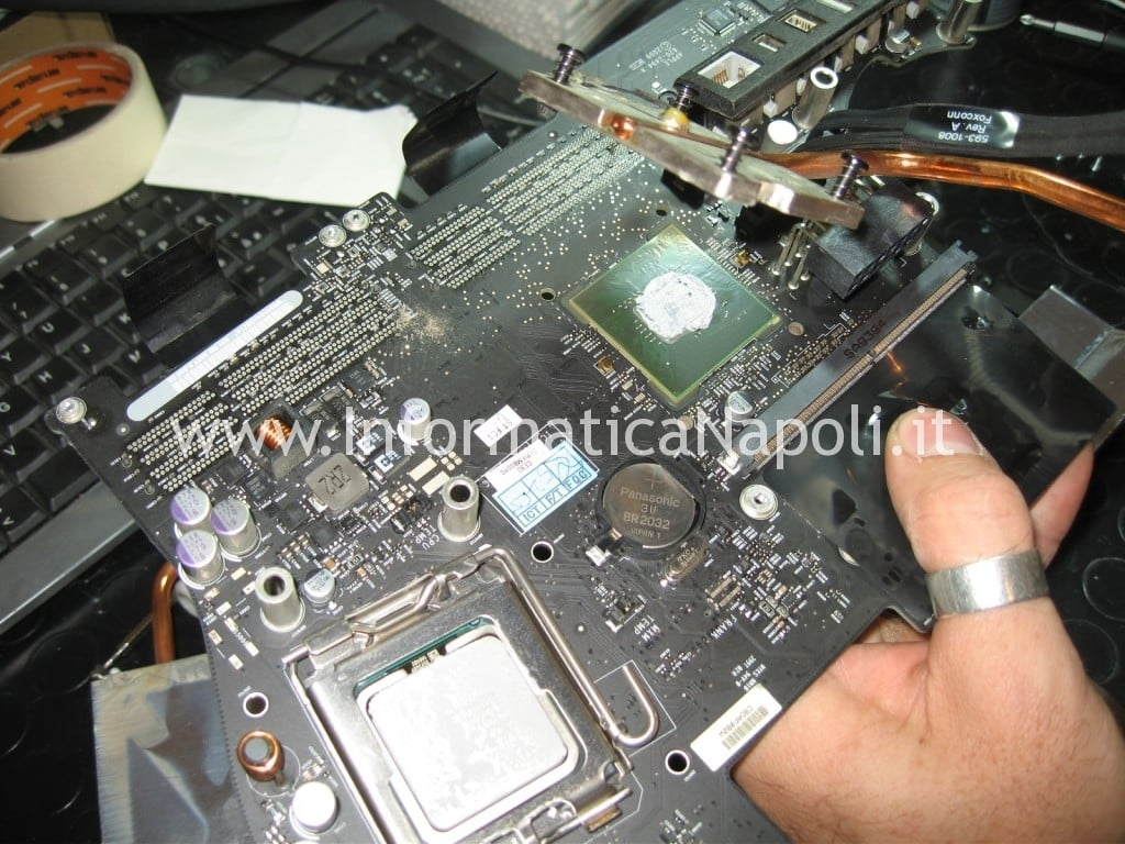 cambio pasta termica processore apple imac 21 A1311