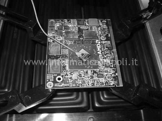 reballing A1311 scheda video ATI mxm