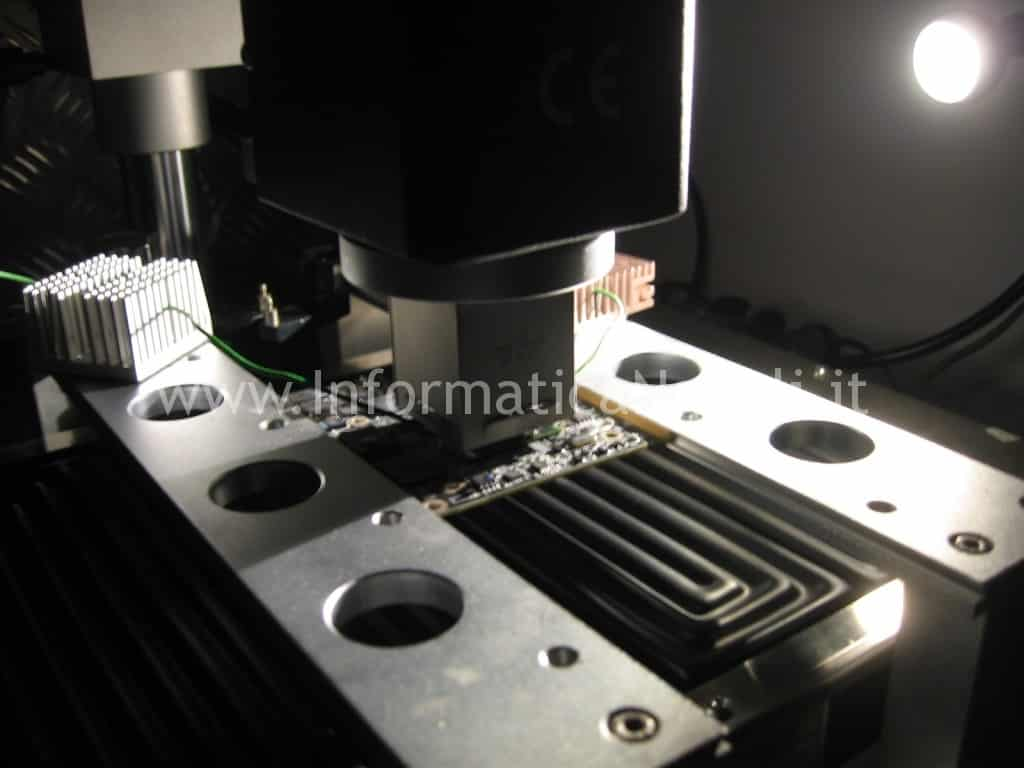 riparazione reballing reflow Apple iMac 27 A1311 scheda video ATI mxm