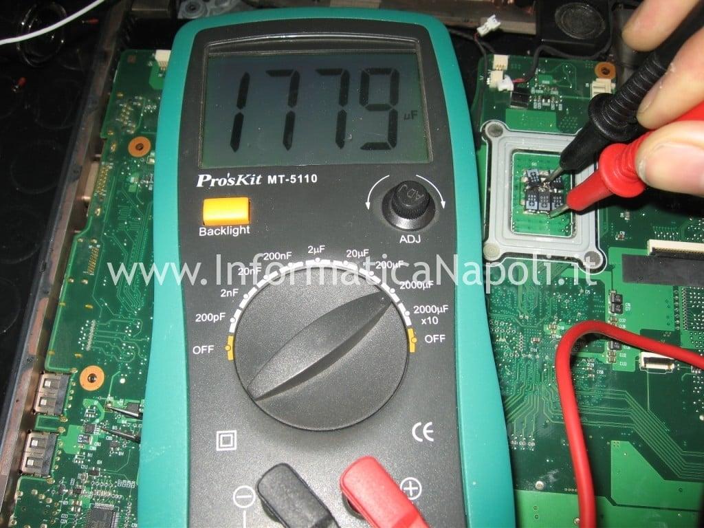 capacimetro condensatori scheda madre Acer 6935 nec/tokin