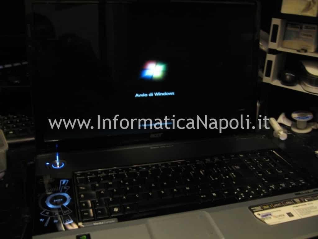Acer 8920g si avvia regolarmente dopo riparazione