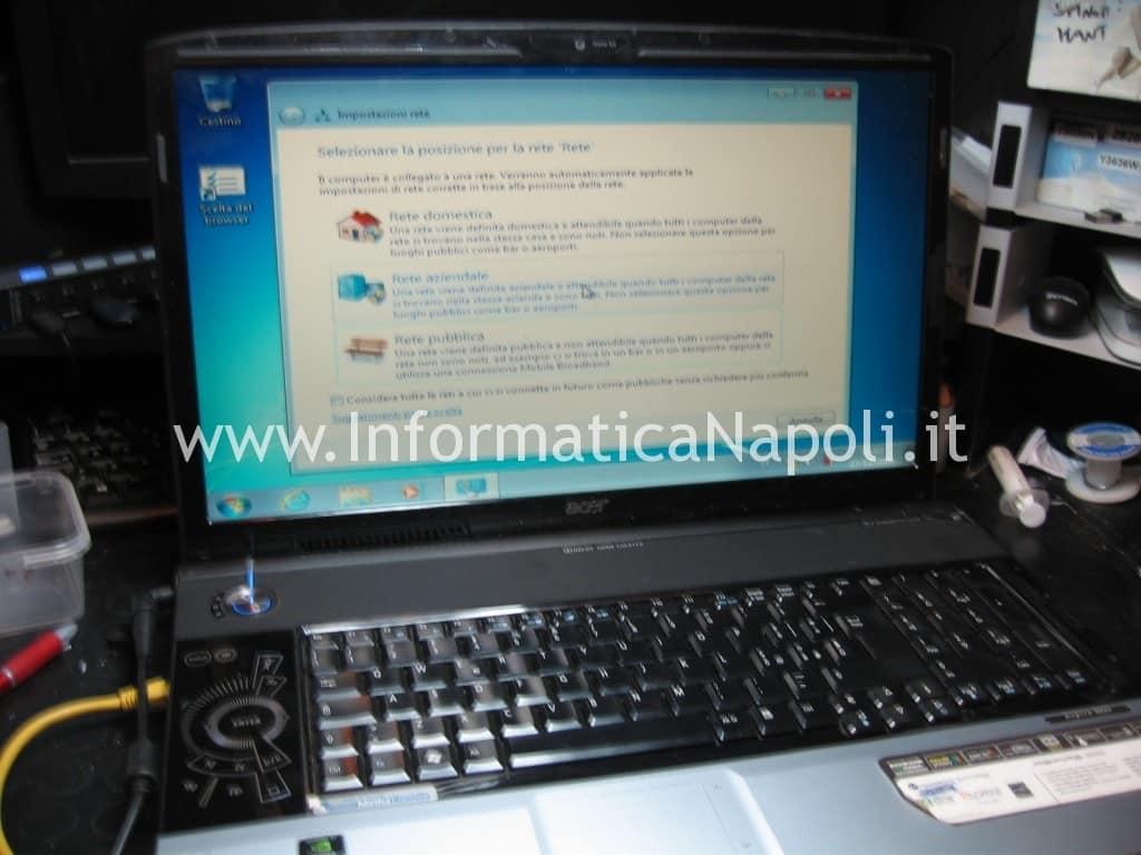 Acer 8920 funzionante riparato non si riavvia