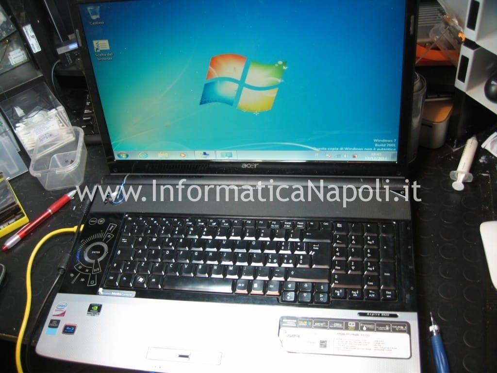 assistenza Acer 8920 funzionante riparato non si riavvia