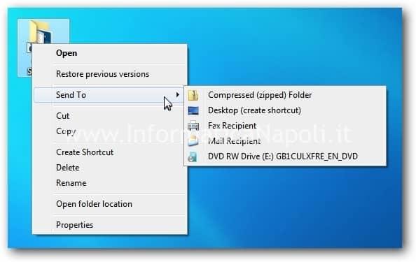 invia a windows 7 8
