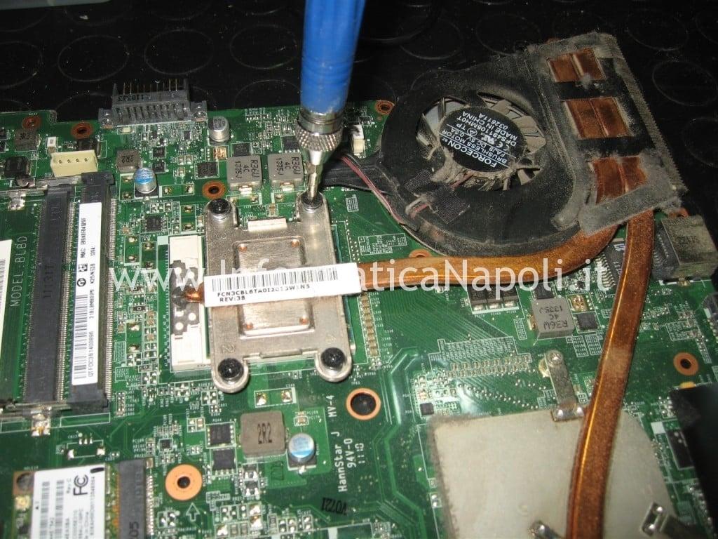 smontare CPU Toshiba Satellite L700 L755 PSK2YE napoli