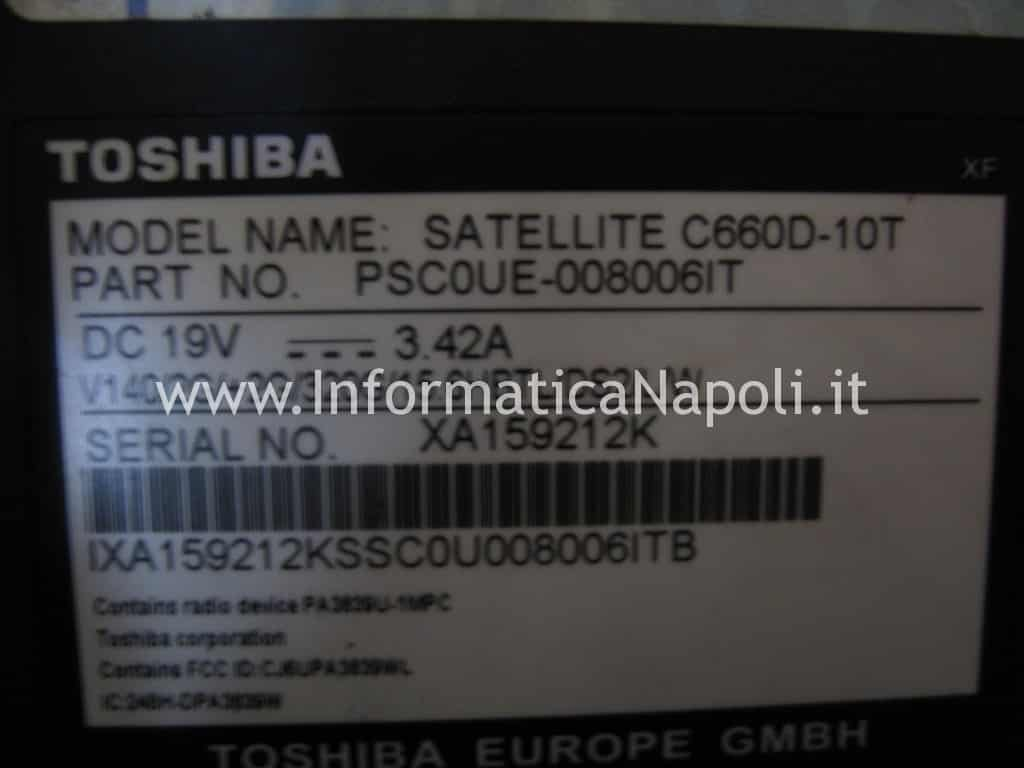 problema Toshiba Satellite C660D PSC0UE