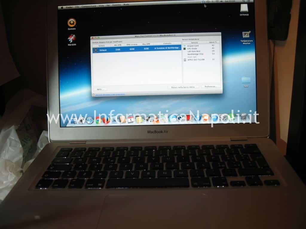 macbook air A1237 A1304 north bridge LE82GS965 riparato funzionante