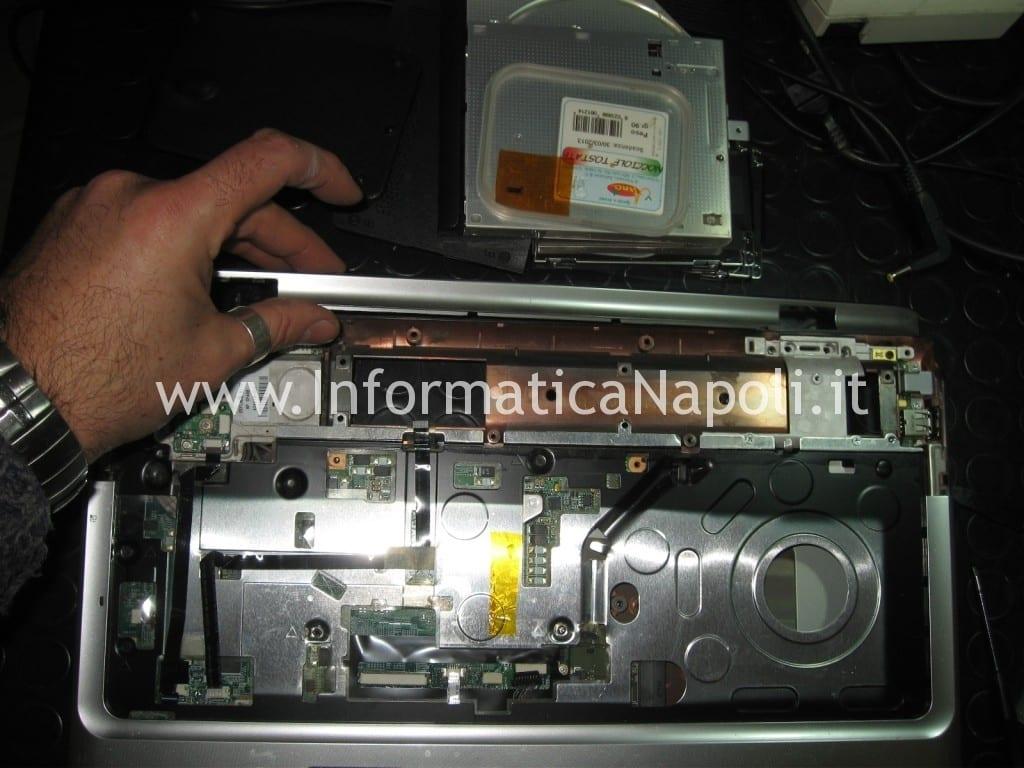 smontare top scocca hp DV9000 DV9500 DV9695el