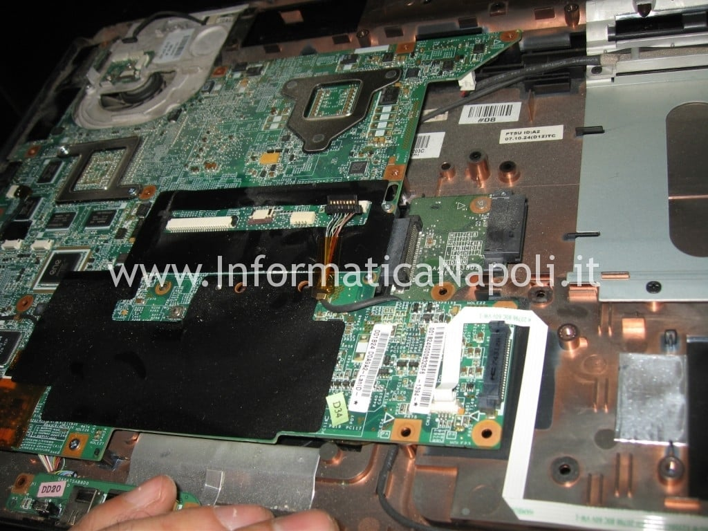 riparare scheda madre hp pavilion DV9000 DV9500 DV9695el