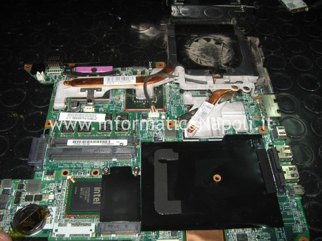 riparazione logic board bga video hp pavilion DV9000 DV9500 DV9695el