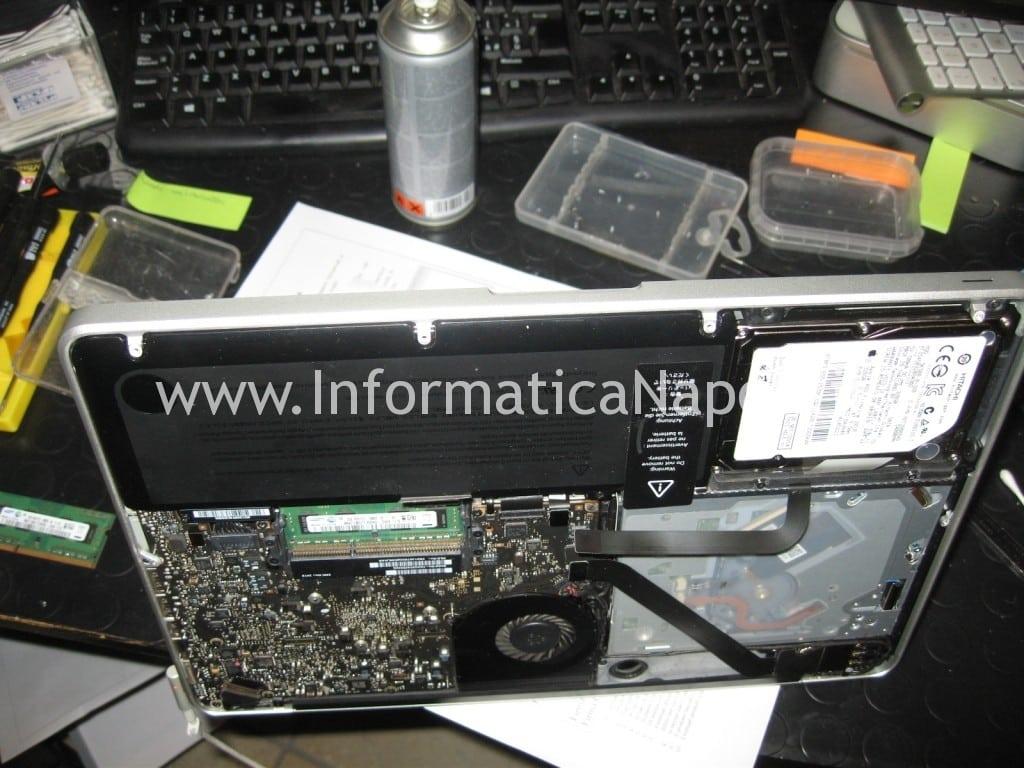 macbook pro a1278 riempito di liquido riparato