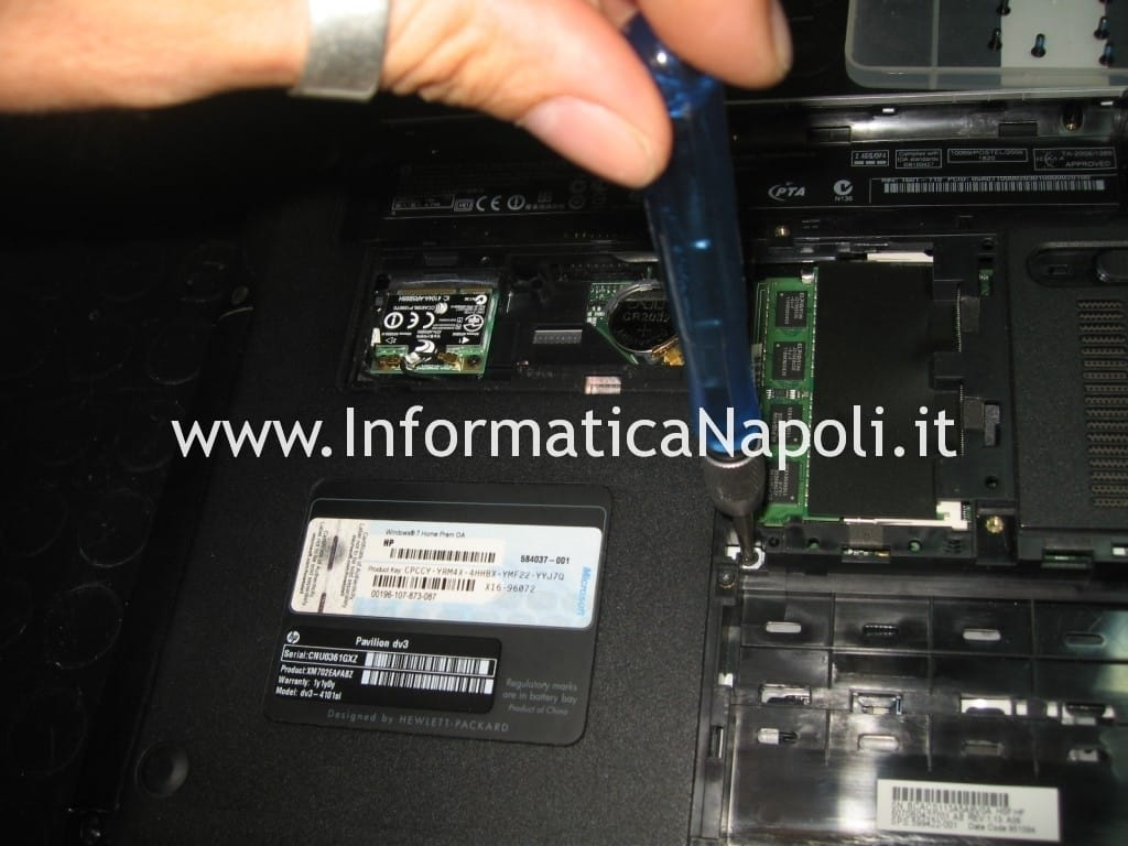 smontare hp pavilion dv3 termal shutdown occurred