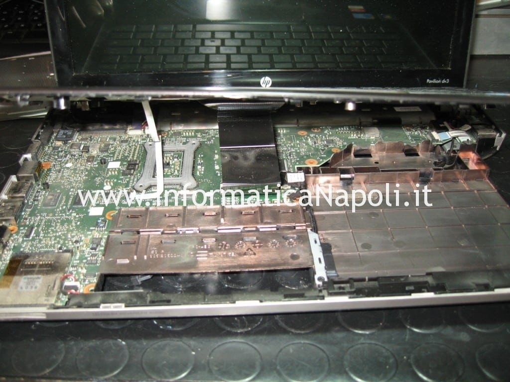 aprire hp pavilion dv3 termal shutdown occurred