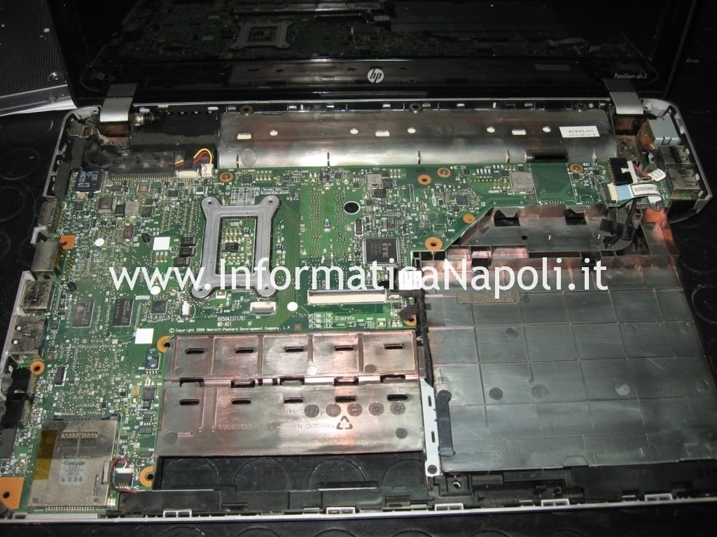 riparare scheda madre hp pavilion dv3 termal shutdown occurred