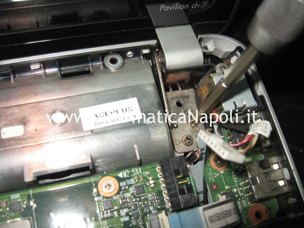 hp pavilion dv3 termal shutdown occurred non si avvia