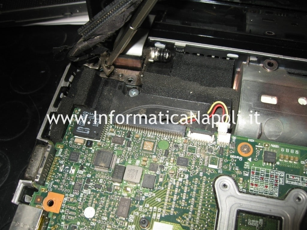 hp pavilion dv3 termal shutdown occurred non funziona