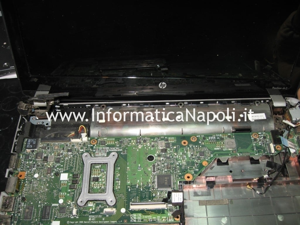 scheda madre hp pavilion dv3 termal shutdown occurred