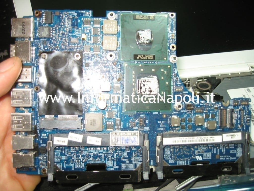 problemi CPU GPU apple macbook 13 a1181 a1185