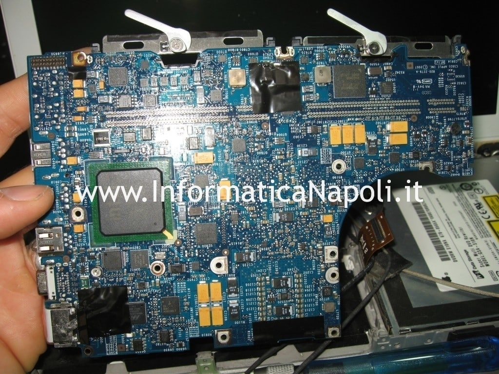 pulizia CPU GPU apple macbook 13 a1181 a1185