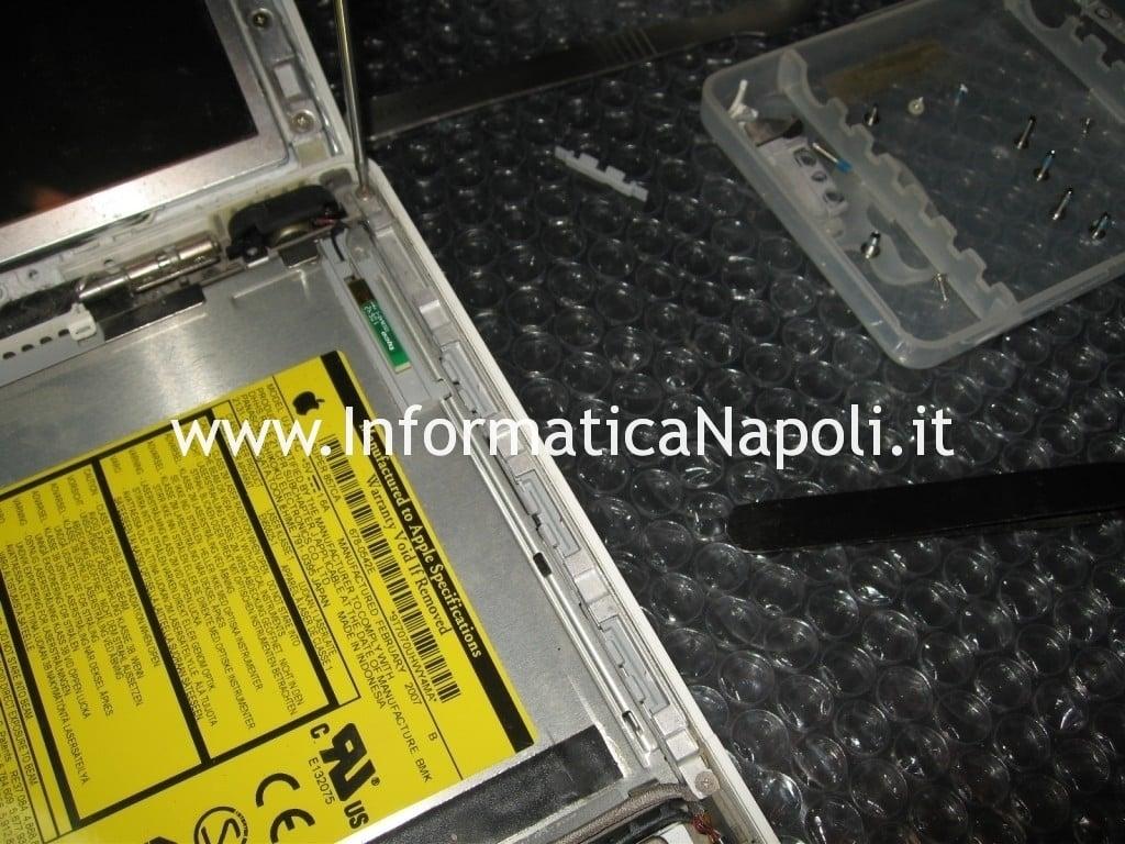 riparare smontare masterizzatore macbook 13 a1181 a1185