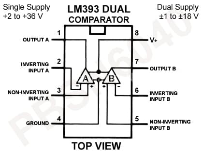 LM393 doppio comparatore